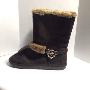 Michael Kors Backstreet Chocolate Faux Fur Boots 5
